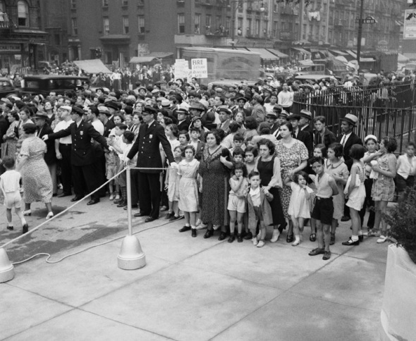 Opening Day @ Jefferson Pool in East Harlem. My dad was there. He was 12 yrs. old.