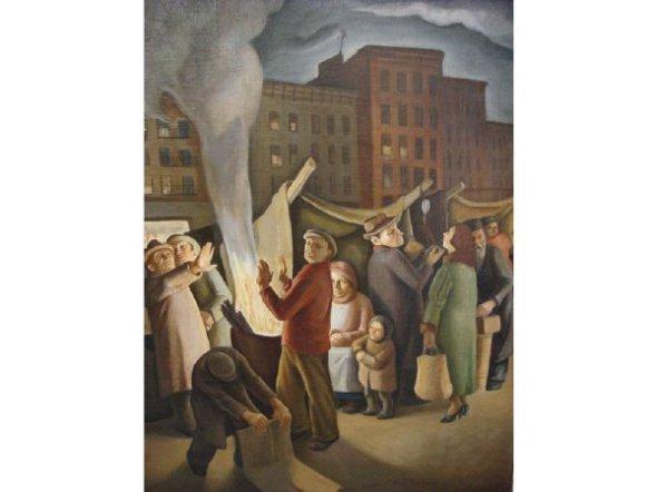 East Harlem Evening Scene c.1940, by Daniel Ralph Celentano-East Harlem Born and Raised!