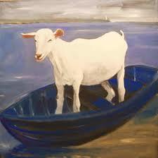 Goat in boat