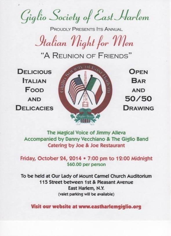 Italian Night for Men in East Harlem