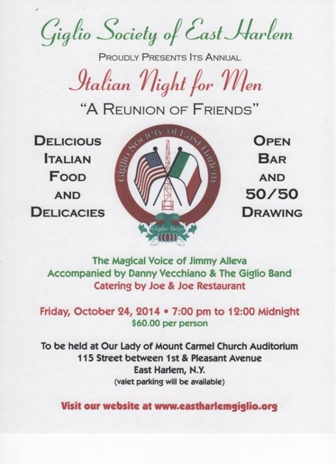 Italian Night for Men in East Harlem