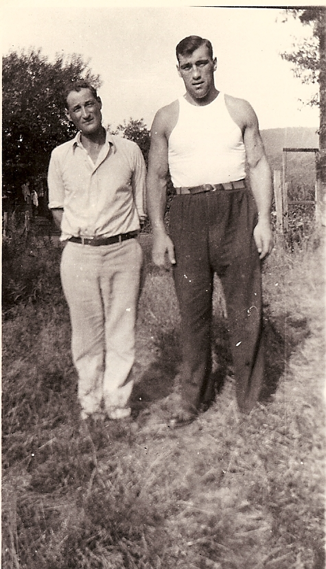 Luigi (left) and Primo Carnera, who won the heavyweight boxing championship at Madison Square Garden on June 27, 1933. Carnera was from the neighboring village of Sequalls in the Italian Province of Pordenone. (Courtesy of the Del Bianco Family Collection)